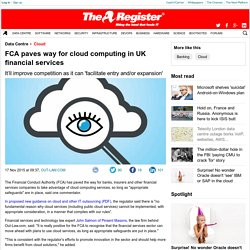 FCA paves way for cloud computing in UK financial services
