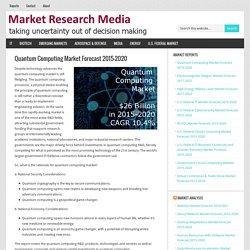 Quantum Computing Market Forecast 2015-2020