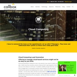 Cloud Computing - B2B Lead Generation Company Malaysia