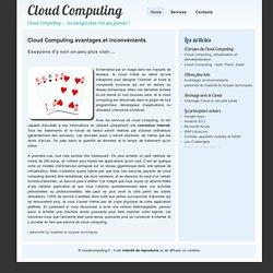 Cloud Computing Avantages et inconvénients 1