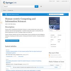 Human-centric Computing and Information Sciences - Springer