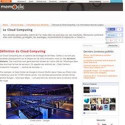 C'est quoi le Cloud Computing ? (ou informatique dans les nuages)