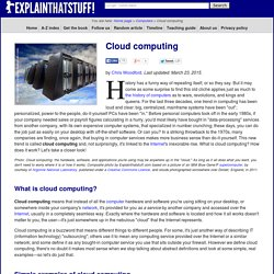 Cloud computing - A simple introduction