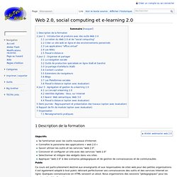 Web 2.0, social computing et e-learning 2.0