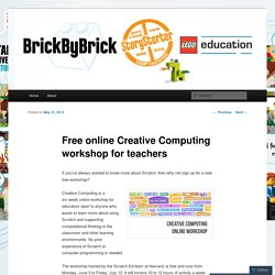 Free online Creative Computing workshop for teachers