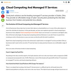 Cloud Computing And Managed IT Services