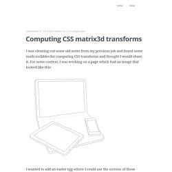 Computing CSS matrix3d transforms