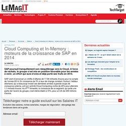 Cloud Computing et In-Memory : moteurs de la croissance de SAP en 2014