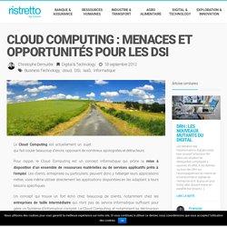 Cloud Computing : menaces et opportunités pour les DSI