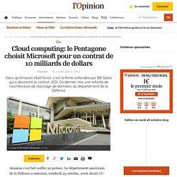 Cloud computing: le Pentagone choisit Microsoft pour un contrat de 10 milliards de dollars