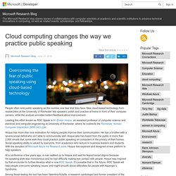 Cloud computing changes the way we practice public speaking