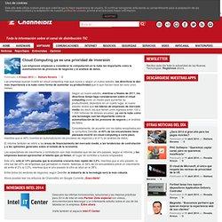 Cloud Computing ya es una prioridad de inversión
