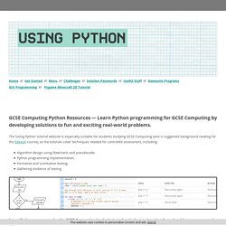 GCSE Computing Python Programming Resources