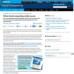 What cloud computing really means | Cloud Computing