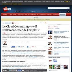Le Cloud Computing va-t-il réellement créer de l'emploi ?
