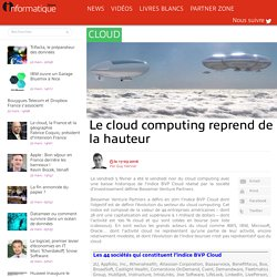 Le cloud computing reprend de la hauteur
