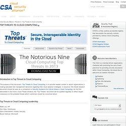 Top Threats to Cloud Computing