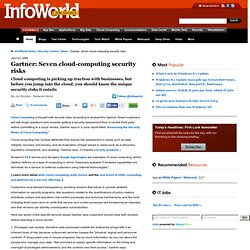 Gartner: Seven cloud-computing security risks