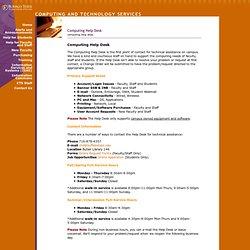 Computing Help Desk BSC