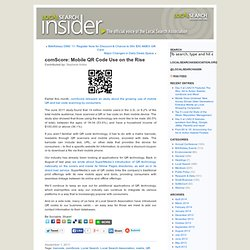 comScore: Mobile QR Code Use on the Rise « Local Search Insider