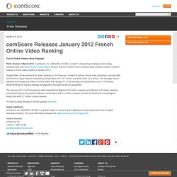 Releases January 2012 French Online Video Ranking