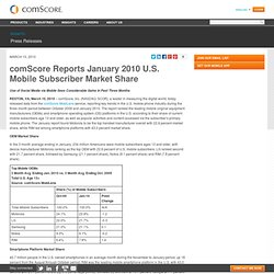 Reports January 2010 U.S. Mobile Subscriber Market Share - comSc