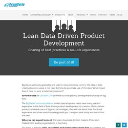 Lean Data Driven Product Development