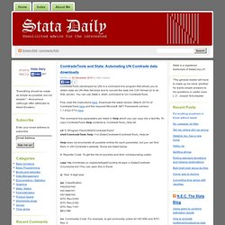 ComtradeTools and Stata: Automating UN Comtrade data downloads « Stata Daily