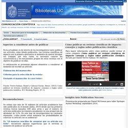 ¿Cómo publicar? - COMUNICACIÓN CIENTÍFICA - Home Guías at Pontificia Universidad Católica de Chile- Sistema de Bibliotecas
