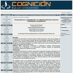 Tecnologías de la Información y la Comunicación para Apoyar el Aprendizaje Colaborativo