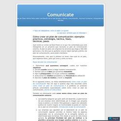 Cómo crear un plan de comunicación: ejemplos prácticos, estrategia, táctica, fases, técnicas, pasos