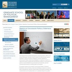 Maestría en Comunicación Política y Gobernanza Estratégica