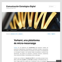 Verkami, una plataforma de micro-mecenazgo