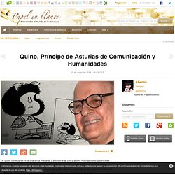 Quino, Príncipe de Asturias de Comunicación y Humanidades
