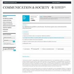 La diplomacia pública americana: lecciones para una comunicación internacional