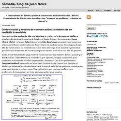 Juan Freire: Control social y medios de comunicación: la historia de un conflcito irresoluble