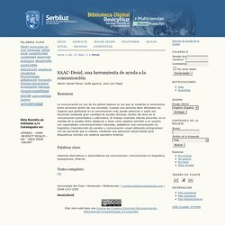 SAAC-Droid, una herramienta de ayuda a la comunicación.