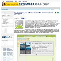 Uso de AppInventor en la asignatura de Tecnologías de la Información y la Comunicación