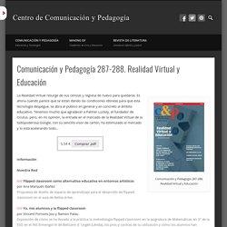 Comunicación y Pedagogía 287-288. Realidad Virtual