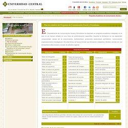 Plan de estudios del Programa de Comunicación Social y Periodismo - Universidad Central