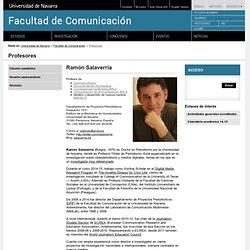 Ramón Salaverría. Facultad de Comunicación. Universidad de Navarra