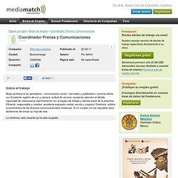 Coordinador Prensa y Comunicaciones