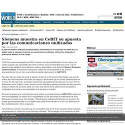 Siemens muestra en CeBIT su apuesta por las comunicaciones unificadas