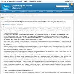 El derecho a la intimidad y las comunicaciones en el ordenamiento jurídico cubano