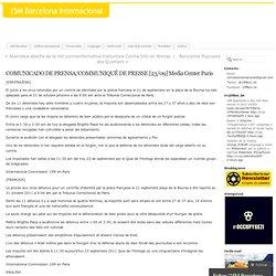 COMUNICADO DE PRENSA/COMMUNIQUÉ DE PRESSE [23/09] Media Center Paris