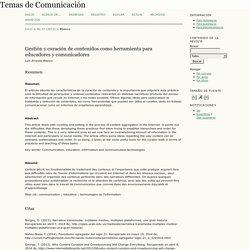 Gestión y curación de contenidos como herramienta para educadores y comunicadores