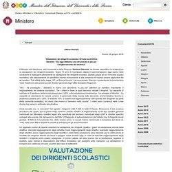 Valutazione Dirigenti Scolastici - MIUR (giugno 2016)