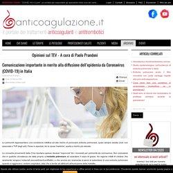 Comunicazione importante in merito alla diffusione dell'epidemia da Coronavirus (COVID-19) in Italia
