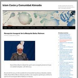 Comunidad Ahmadía del Islam