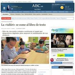 Comunidad De Madrid - La «tablet» se come al libro de texto